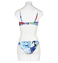 Hot Stuff  Aqua Flower - Badeslip - Damen , Blue/White/Pink