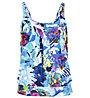 Hot Stuff Aqua Flower - Top Bikini - Damen , Blue/White/Pink