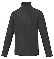 Hot Stuff Maglia in pile Dennis Fleece 1/2 Zip, Caviar Black