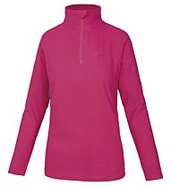 Hot Stuff Elisa Fleece 1/2 Zip Damen-Fleecepullover, Bright Rose