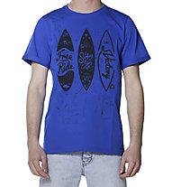 Hot Stuff Free Ride Surf - T-Shirt - Herren, Blue