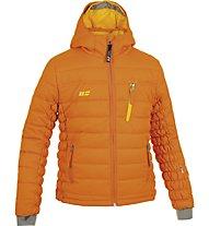 Hot Stuff Padded Jkt Girl Kinder Skijacke mit Kapuze, Dark Orange