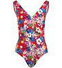 Hot Stuff Hibiscus - costume intero - donna, Red/Light Blue