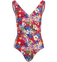 Hot Stuff Hibiscus - Badeanzug - Damen, Red/Light Blue