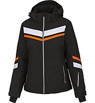 Hot Stuff Stripe JKT Woman - giacca da sci - donna, Black/Orange