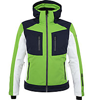 Hot Stuff Latemar - Skijacke - Herren, Green/Dark Blue/White