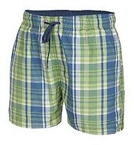 Hot Stuff Men Short Karo, Green/Turquoise