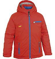 Hot Stuff Padded Jacket Boy Kinder Skijacke mit Kapuze, Fery Red