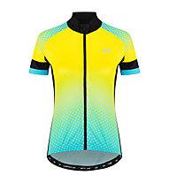 Hot Stuff Race - Radjersey - Damen, Yellow/Light Blue