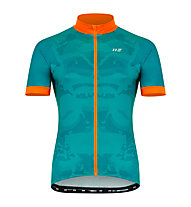 Hot Stuff Race - Radjersey - Herren, Green/Orange