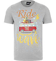 Hot Stuff Ride Wave - T-shirt - uomo, Grey
