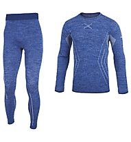 Hot Stuff Set Long Seamless M - completo intimo - uomo, Blue