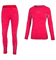 Hot Stuff Set Long Seamless W - Unterwäsche Komplet - Damen, Red