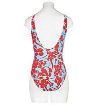 Hot Stuff Silhouette - Badeanzug - Damen , Blue/Red