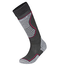 Hot Stuff Ski Basic Kid - calzini da sci - bambino, Grey/Red