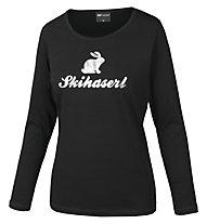 Hot Stuff Longsleeve Skihaserl Damen-Langarmshirt, Black