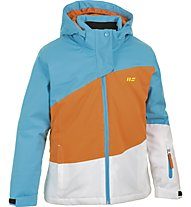 Hot Stuff Stretch Jkt Girl Kinder Skijacke mit Kapuze, Blue/Orange/White