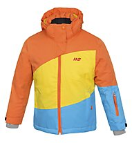 Hot Stuff Stretch Jkt Girl Kinder Skijacke mit Kapuze, Orange/Yellow/Blue
