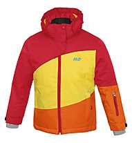 Hot Stuff Stretch Jkt Girl Kinder Skijacke mit Kapuze, Fery Red/Vibrant Yellow/Orange
