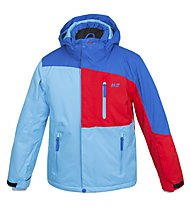Hot Stuff Stretch Jkt Jr Kinder Skijacke mit Kapuze, Blue/Red/Light Blue