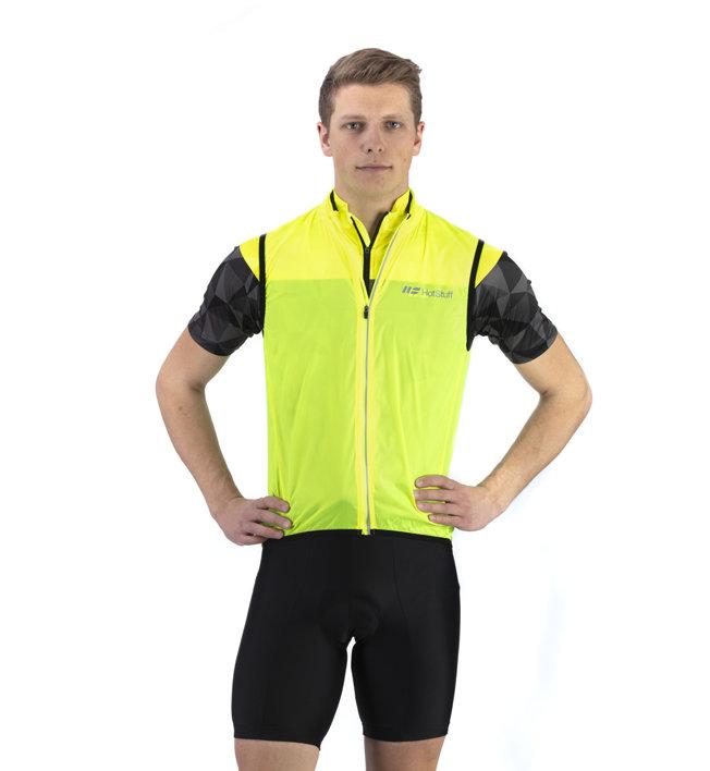 Hot Stuff Wind Vest - Radweste - Herren, Yellow
