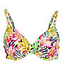 Hot Stuff Zebra Flower - Bikinioberteil - Damen , Yellow/Pink/Black