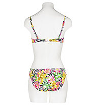 Hot Stuff Zebra Flower - reggiseno costume - donna , Yellow/Pink/Black