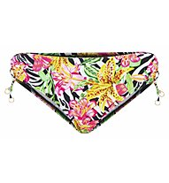 Hot Stuff Zebra Flower - Badeslip - Damen , Yellow/Pink/Black