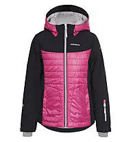Icepeak Helen JR Kinder Skijacke mit Kapuze, Blue/Pink