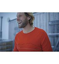 Icebreaker 200 Oasis Deluxe Raglan - maglia tecnica a manica lunga - uomo, Red
