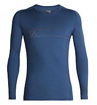Icebreaker 200 Oasis Deluxe Raglan - maglia tecnica a manica lunga - uomo, Blue
