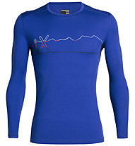 Icebreaker 200 Oasis LS C Single Line Ski - maglietta tecnica - uomo, Light Blue