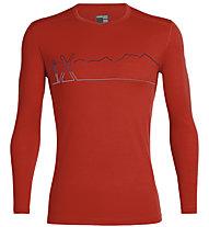 Icebreaker 200 Oasis LS C Single Line Ski - maglietta tecnica - uomo, Red