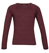 Icebreaker 200 Oasis LS Crewe Thermal Top Napasoq Lines - maglia a maniche lunghe - bambino, Red
