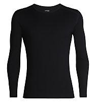 Icebreaker 260 Tech Crewe - maglietta tecnica - uomo, Black
