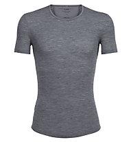 Icebreaker Anatomica Rib Rib manica corta Crewe - maglietta tecnica - uomo, Grey