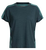 Icebreaker Cool-Lite™ Kinetica Crewe - T-Shirt - Damen, Blue