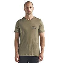 Icebreaker Tech Lite SS Crewe Caravan Life - T-Shirt - Herren, Green
