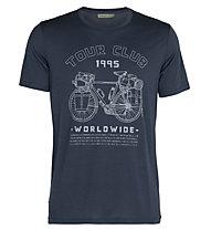 Icebreaker Tech Lite SS Crewe Tour Club 1995 - T-Shirt - Herren, Blue