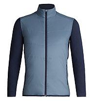 Icebreaker Merinoloft Descender Hybrid - giacca ibrida - uomo, Blue