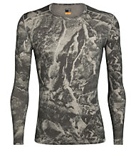 Icebreaker Natural Dye 200 Oasis LS Crewe Thermal Top Glacier - maglietta funzionale a maniche lunghe - uomo, Grey
