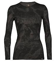 Icebreaker Natural Dye 200 Oasis Thermal LS Anniversary IB Glacier - maglietta funzionale a maniche lunghe - donna, Dark Grey