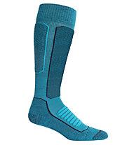 Icebreaker Ski+ Medium OTC - calze da sci - donna, Light Blue