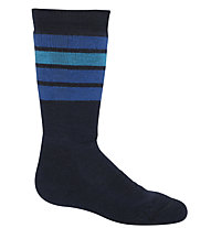 Icebreaker Ski Medium OTC Stripe - Skisocken - Kinder, Blue