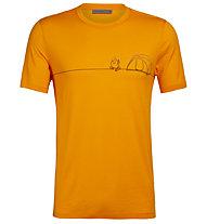 Icebreaker Tech Lite Crewe Single Line Camp - T-Shirt - Herren, Orange