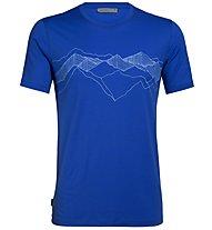 Icebreaker Tech Lite Crewe Peak Patterns - Merinoshirt - Herren, Blue