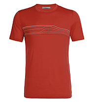 Icebreaker Tech Lite SS Crewe Ski Racer - T-Shirt - Herren, Red