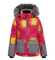 Icepeak Lomita - Skijacke - Mädchen, Pink/Yellow