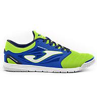 Joma Cancha Indoor - scarpe da calcetto indoor - uomo, Green/Blue
