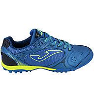 Joma Dribling TF - scarpe da calcio terreni duri, Blue Royale/Yellow